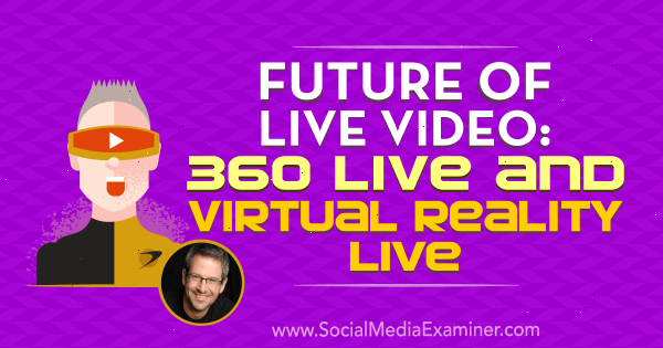 Future of Live Video: 360 Live and Virtual Reality Live featuring insights  from Joel Comm