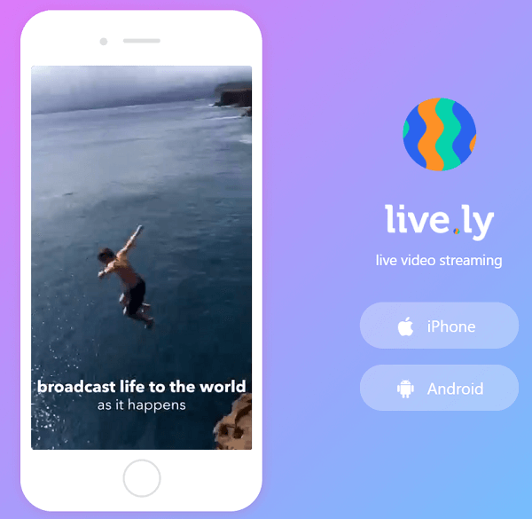 Live.ly is partnered with the Musical.ly app.
