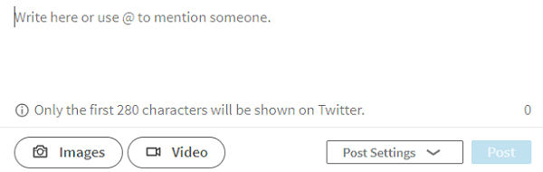 Click the video icon to upload native video on LinkedIn.
