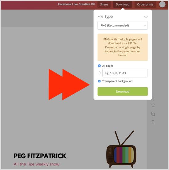 Canva create transparent background image
