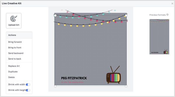 Facebook Live Creative Kit add frame