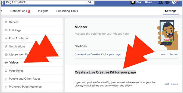 Facebook Live Creative Kit for page