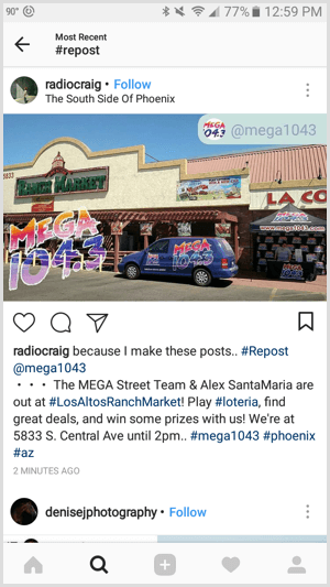 repost for instagram reshare business post