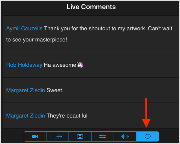 switcher studio live comments