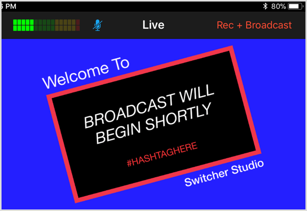 switcher studio live view