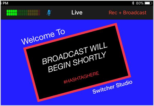 switcher studio live view