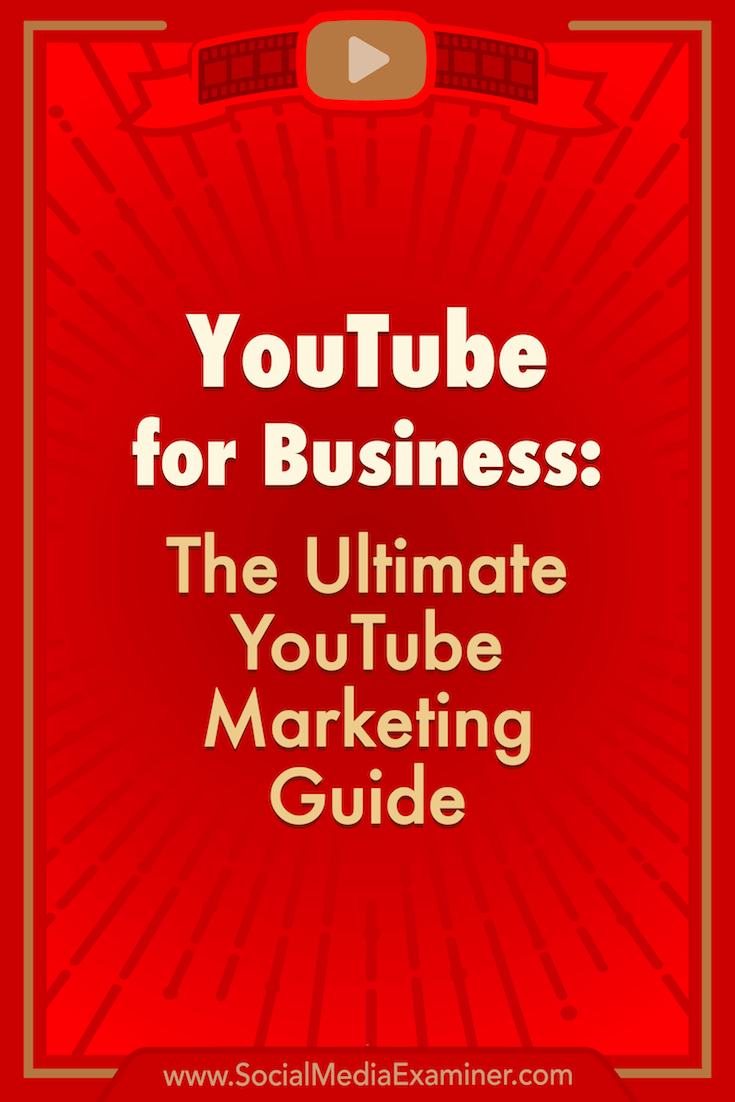 Help for beginner, intermediate, and advanced marketers on using YouTube channels, video, ads, analysis, and more for business.