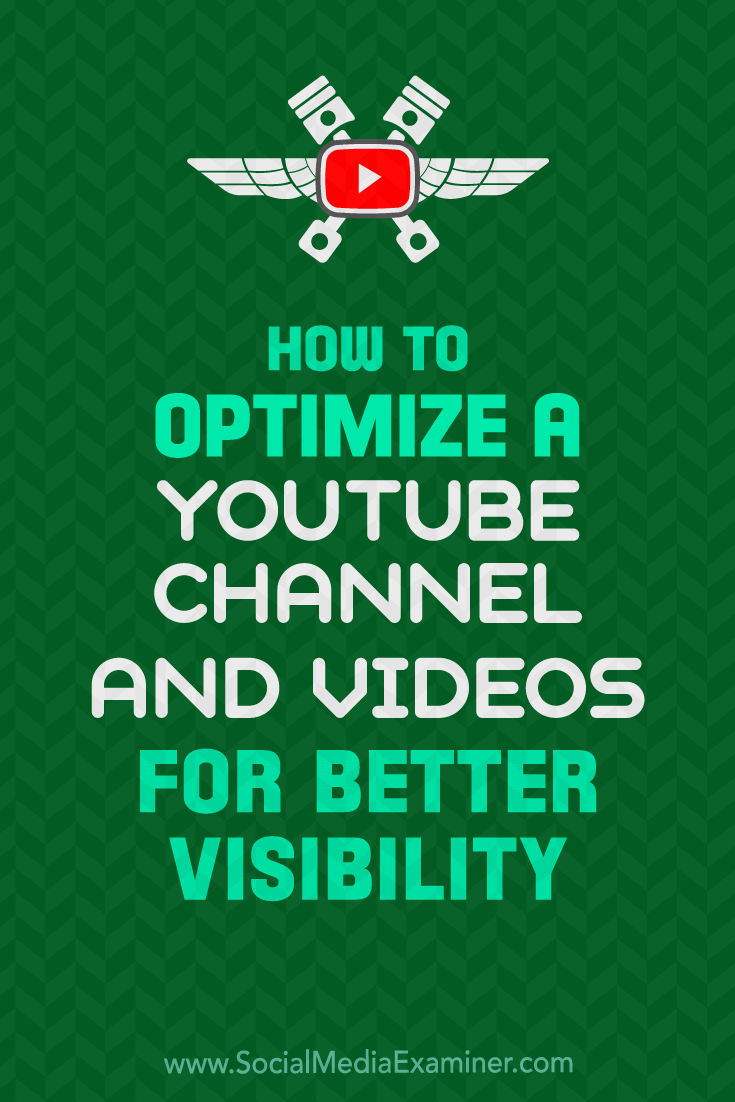 Learn how to set up and optimize your YouTube channel and videos for more exposure in search and suggested videos.