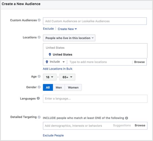Facebook ad split test ad sets