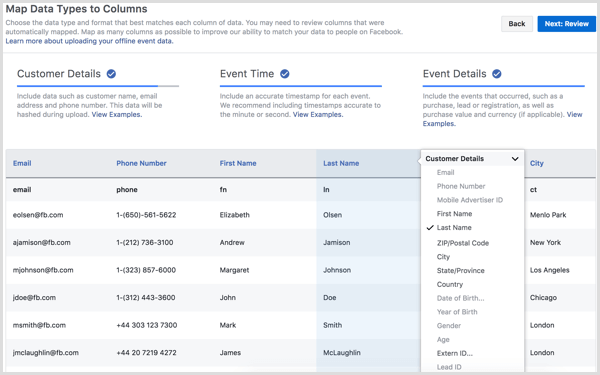 Facebook Business Manager upload offline events