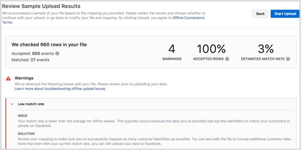 Facebook Business Manager upload offline events