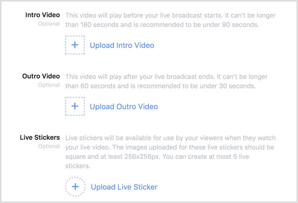 Facebook Live Creative Kit intro outro video