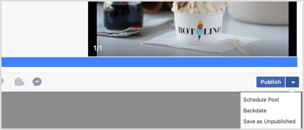 Facebook upload video schedule post
