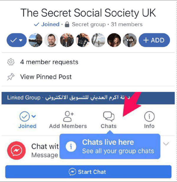 Facebook may also be rolling out a button to quickly add friends and a number of new chat features to Groups.