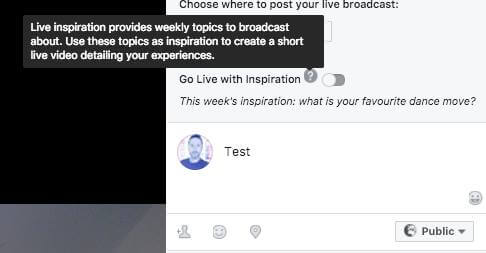 Facebook appears to be testing a new Live video feature that gives broadcasters weekly topics suggestions to broadcast about.