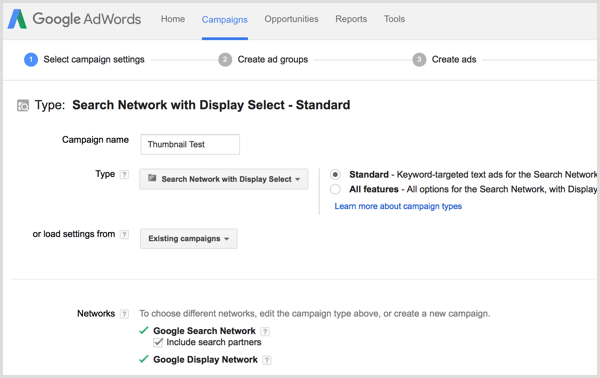 Google AdWords YouTube thumbnail testing