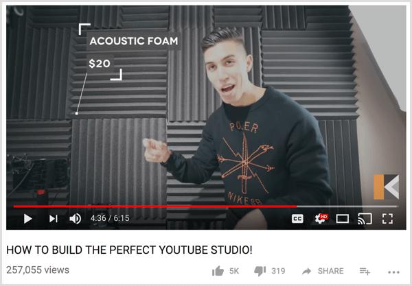 YouTube video studio setup