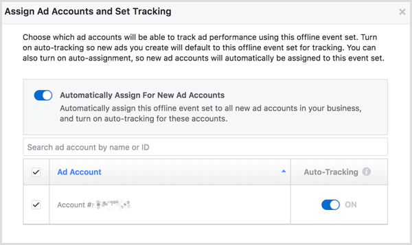Facebook Business Manager create offline events