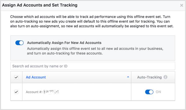 Facebook Business Manager create offline events