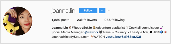 instagram-personal-profile-with-business-link-example