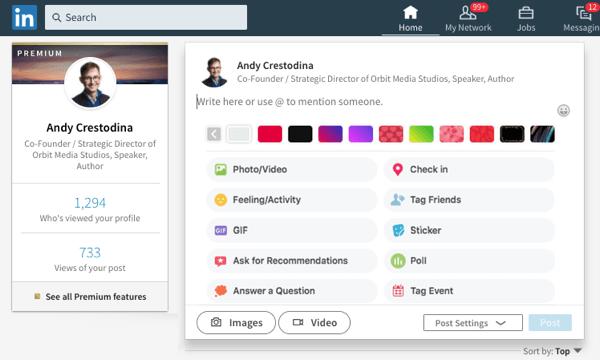 linkedin facebook-like post backgrounds