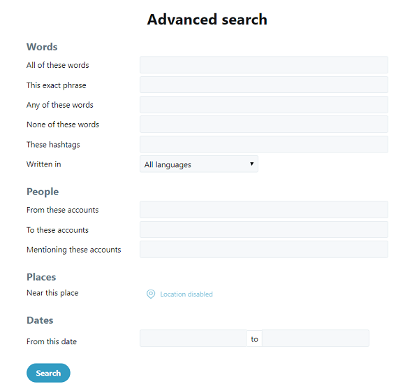 Set up an advanced Twitter search with your zip code.