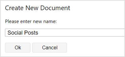 ProWritingAid create new document