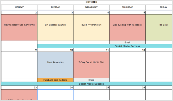 How To Create A Social Media Calendar A Template For Marketers - Social media content schedule template