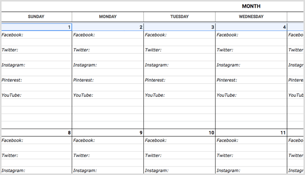 How To Create A Social Media Calendar A Template For Marketers