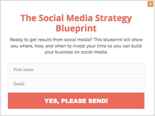 blog post cta button popup example