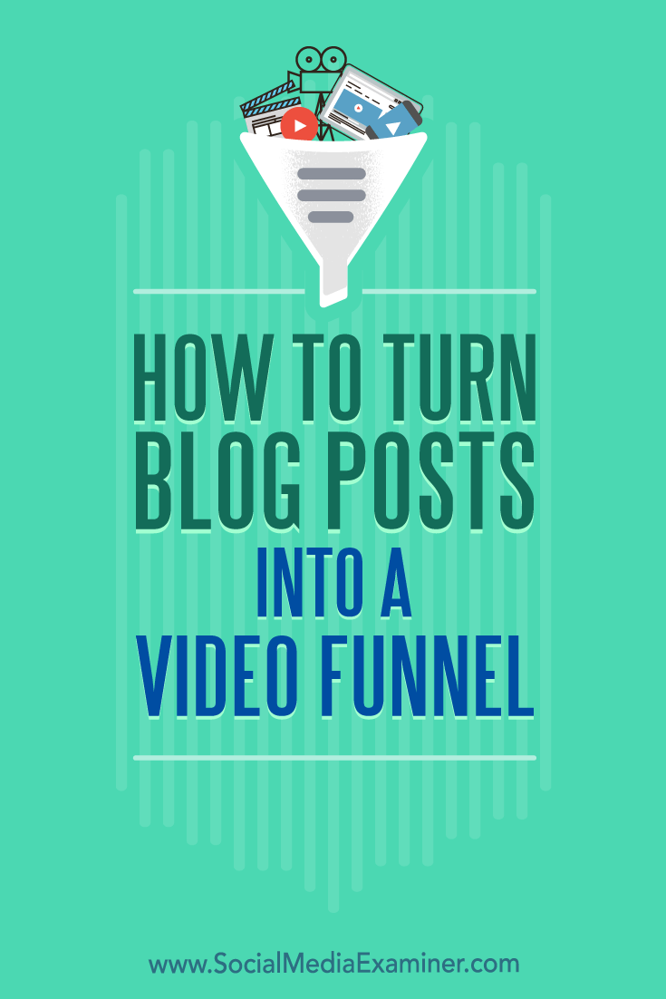 Discover how to warm up and convert prospects by turning your blog posts into a three-part video funnel.