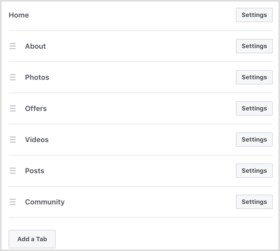 Facebook add Groups tab