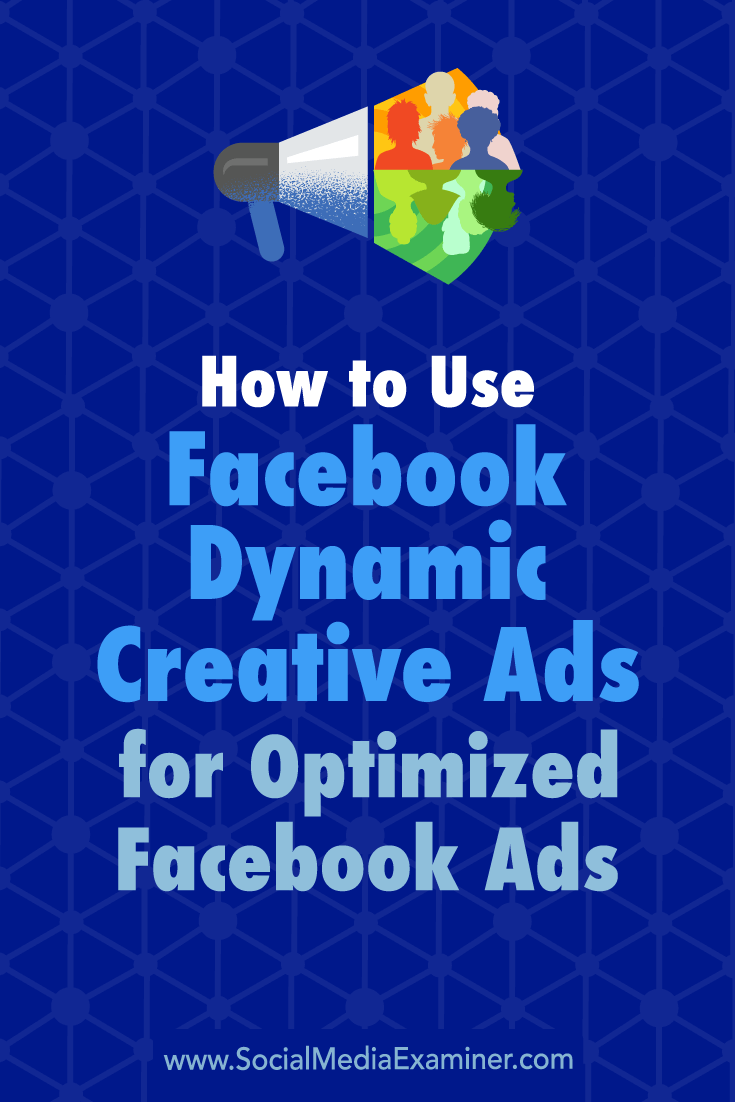 Discover how to use Facebook's Dynamic Creative to test multiple variations of a single ad and reveal the optimal version for your audience.