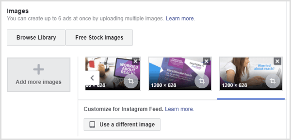 Facebook lead ad images
