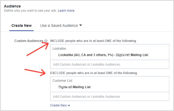 Facebook lead ad targeting