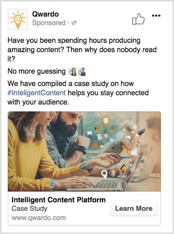 Facebook optimize ad copy