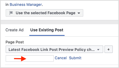 Facebook reuse old ad posts for new campaigns