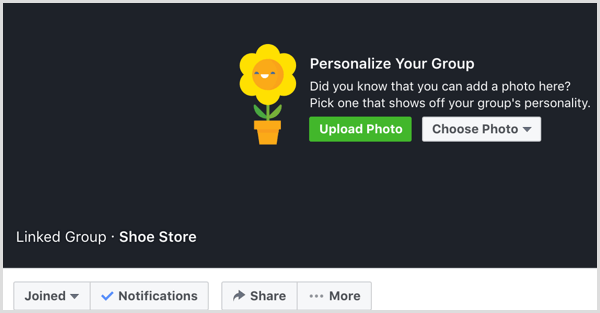 Facebook upload cover photo to group