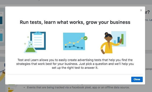 Facebook Business Manager rolls out a new Test and Learn Tool.