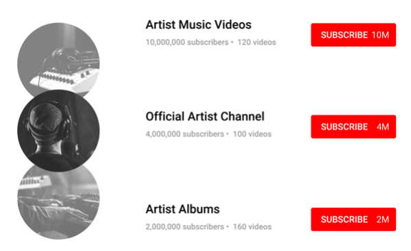 If you're currently subscribed to an unofficial artist channel, you will soon be subscribed to their Official Artist Channel and your subscription to any unofficial artist channels will become inactive.