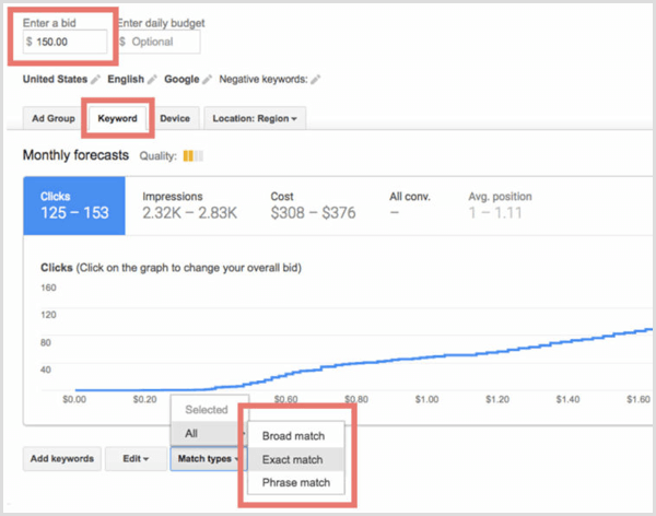 Google Keyword Planner review plan