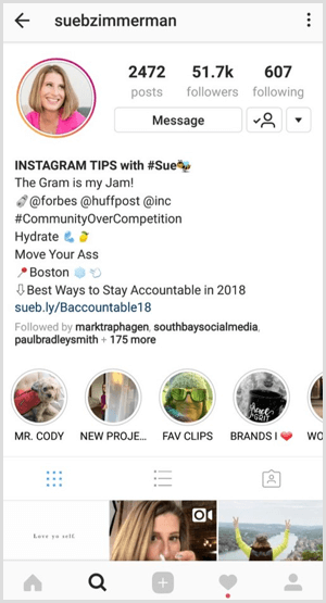 Instagram multiple story highlights on profile