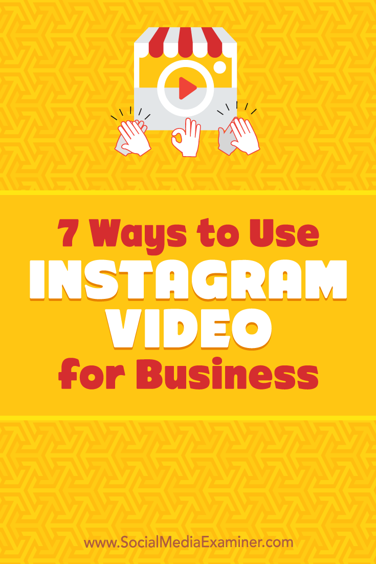 Discover seven ways to use Instagram video to enhance your stories and timeline with engaging content.