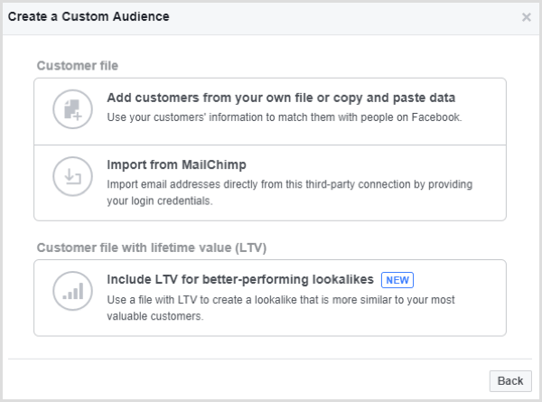 facebook create custom audience email list
