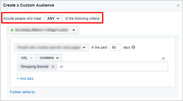 facebook create custom audience visitors who did not convert