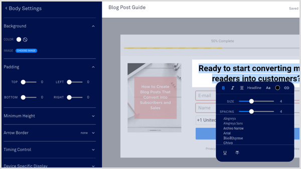 LeadPages form customize