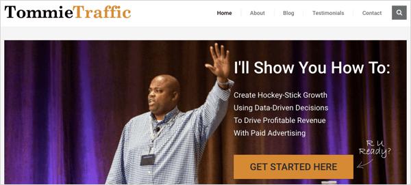 TommieTraffic.com website
