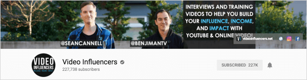 Video Influencers is a channels that produces weekly interviews.