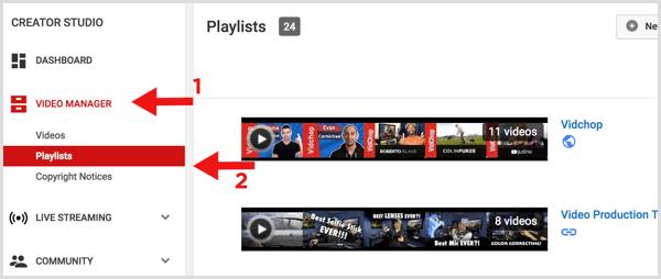 YouTube create series playlist