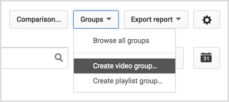 YouTube create video group
